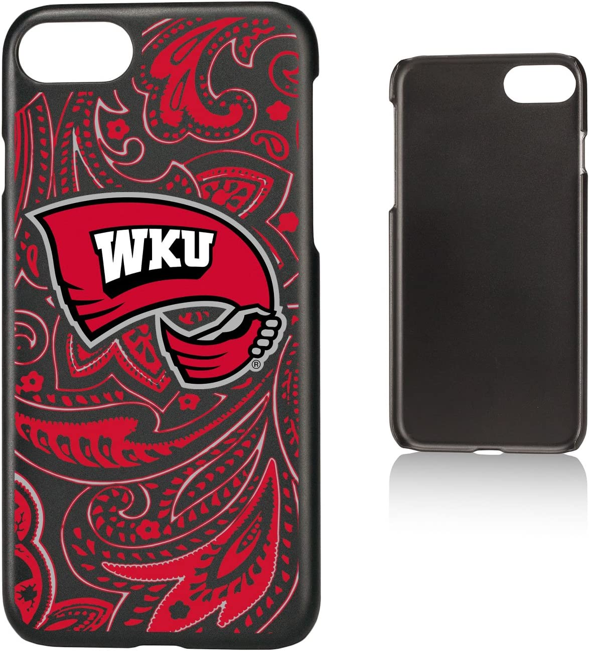 Keyscaper KSLMI7-0WKY-PAISL1 Western Kentucky Hilltoppers iPhone 8//7 Slim Case with WKU Paisley Design