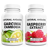 Garcinia Cambogia + Raspberry Ketones Pure Extract. High Strength Duo 120 Max Strength Capsules. Quality Dietary Supplements for Weight Loss. Made in the UK