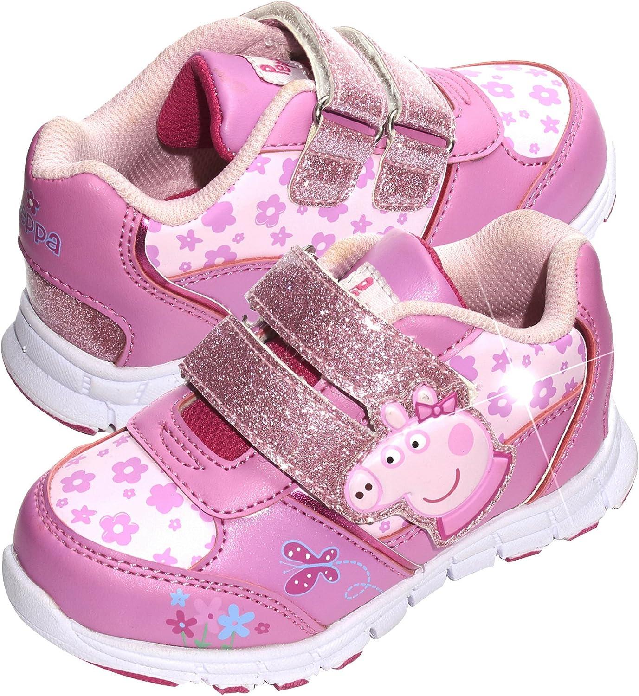 Peppa Pig Girls White/Pink Trainers UK