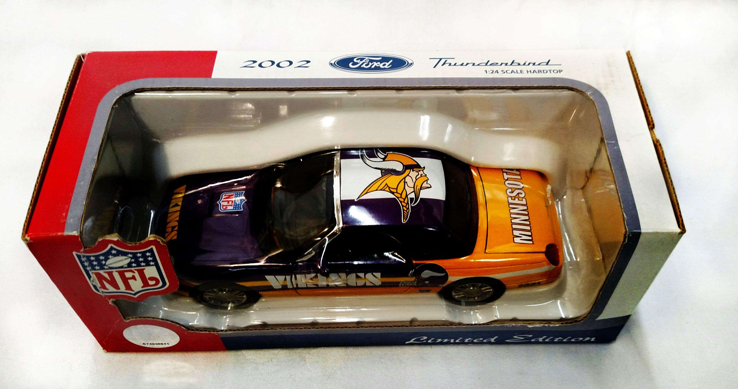 Minnesota Vikings 2002 Ford Thunderbird Limited Edition Die Cast Collectible
