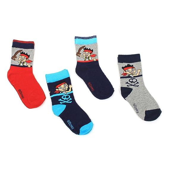 Jake y los piratas (4926) Unisex para calcetines infantiles, 4 pares: Amazon.es: Ropa y accesorios