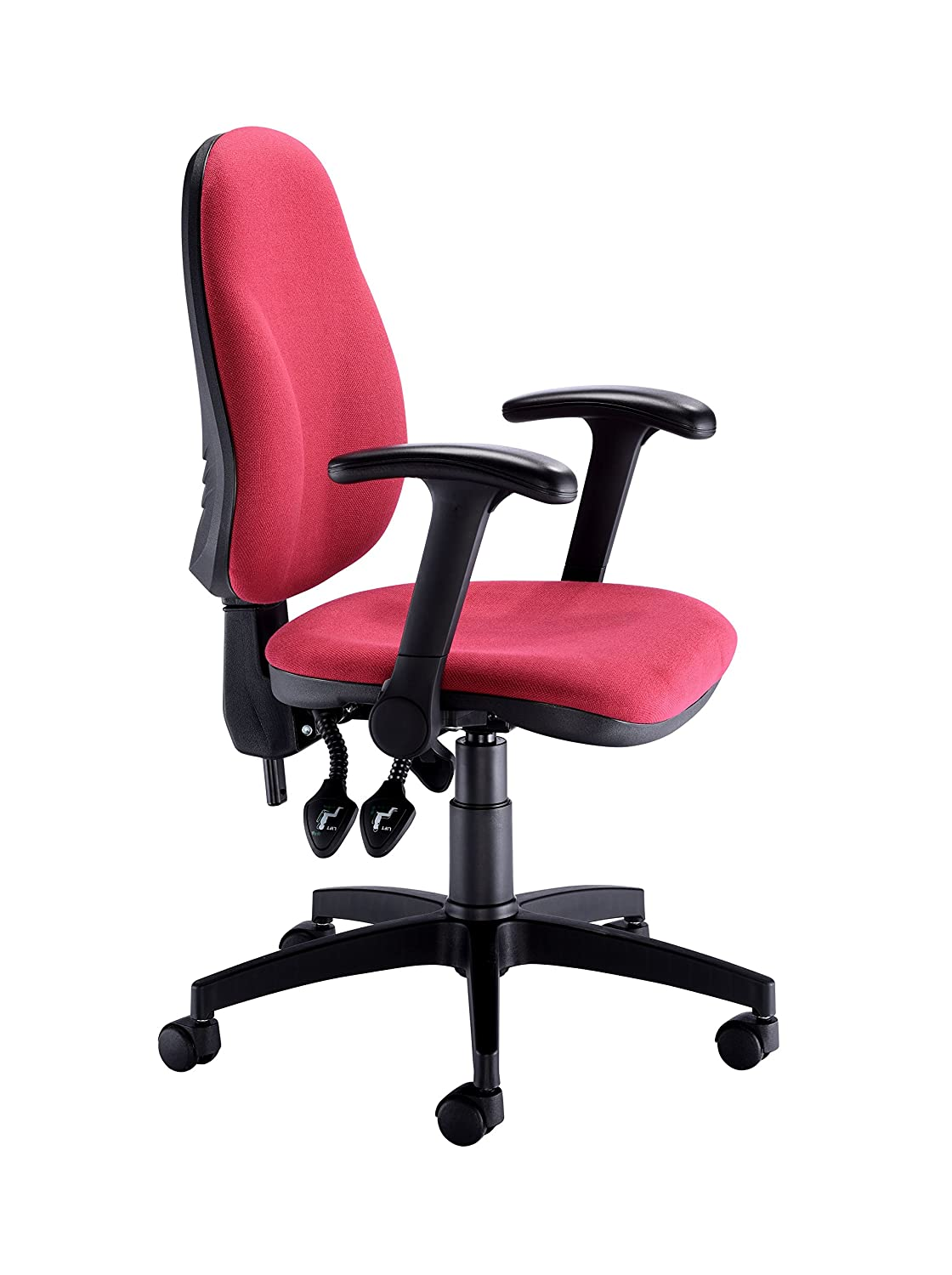 d25f2500b931 Royal Blue 61 x 61 x 97 cm OHS0068RB+AC1002 Fabric Office Hippo Deluxe High- Back Swivel Desk Chair ...