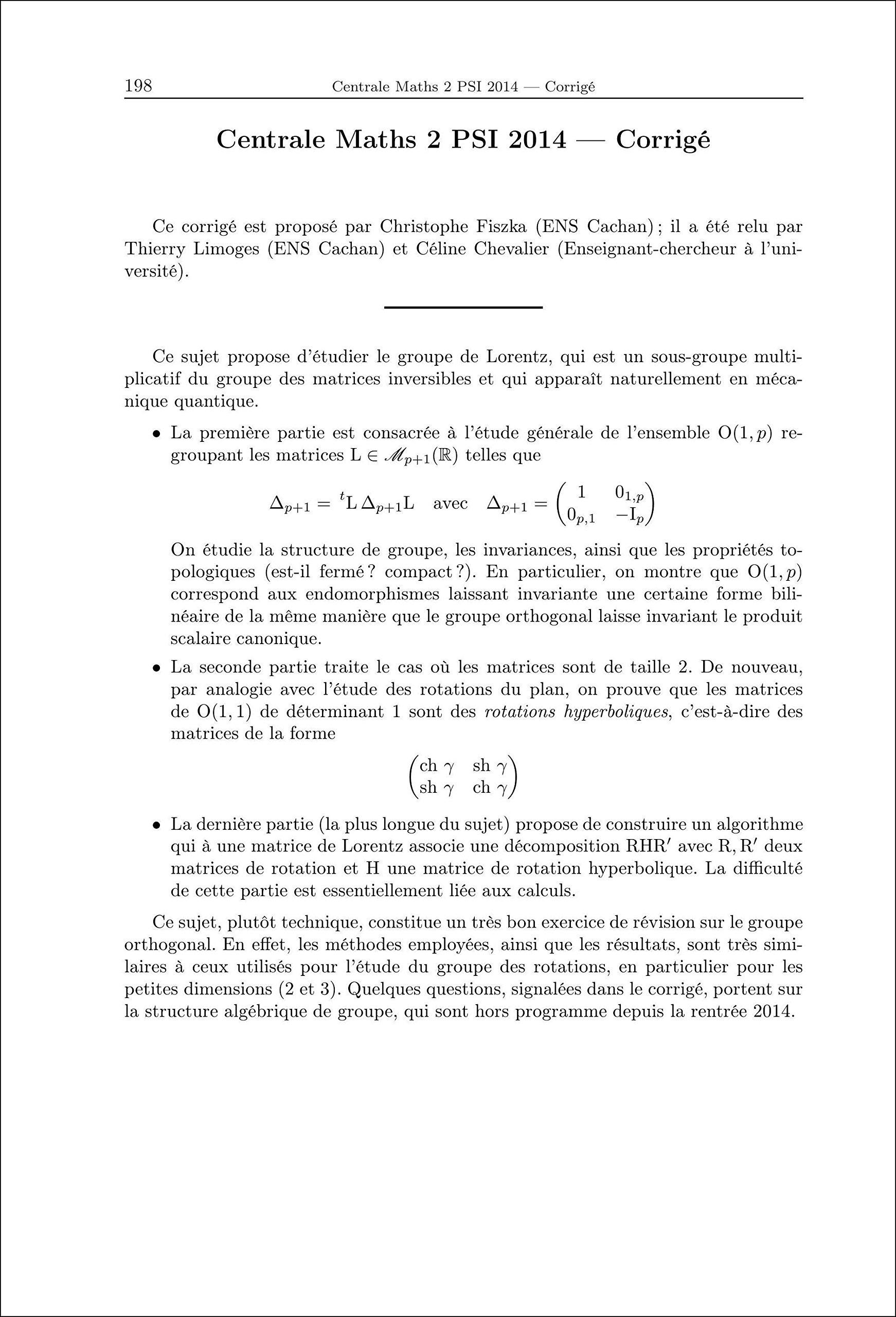 Annales des concours 2014 PSI mathématiques: 9782351413098: Amazon.com: Books
