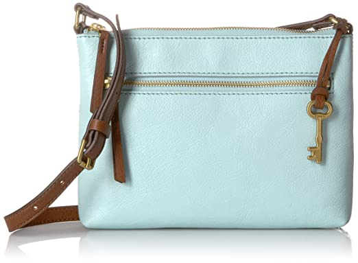 a1e25878ca87 Fossil Fiona EW Crossbody Aqua Sky  Handbags  Amazon.com