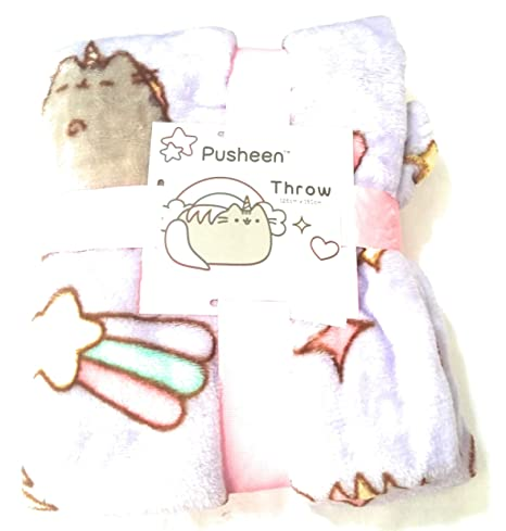 Pusheen Mermaid Throw Pusheen The Cat Blanket Supersoft 125cm x 150cm Sold by Bend The Trend2