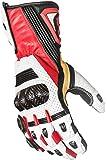 Protect the King Hornet Premium Leather Gauntlet Motorcycle Sport Biker Gloves (Medium, Red/White)