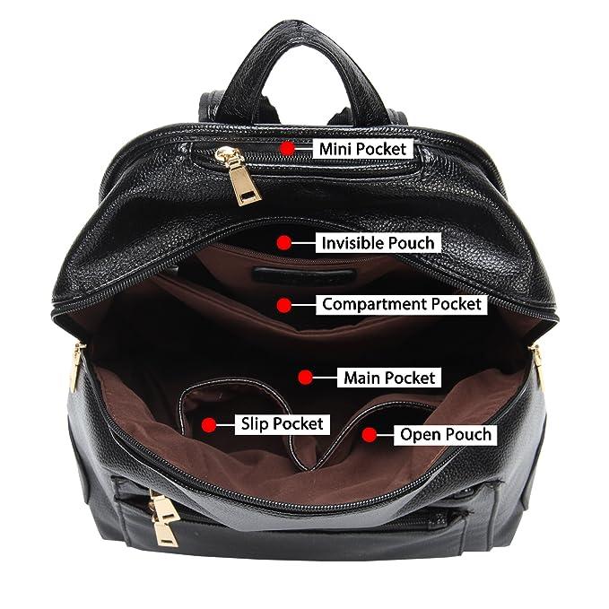 Amazon.com: Hynes mochila de imitación piel Victory ...