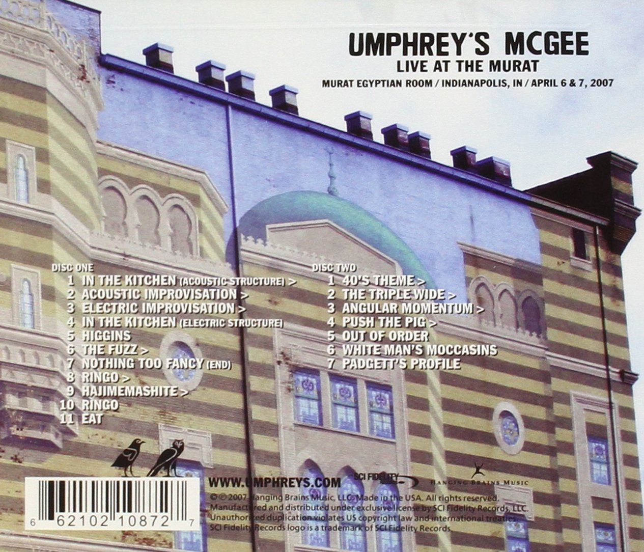 Live At The Murat by SCI Fidelity Records
