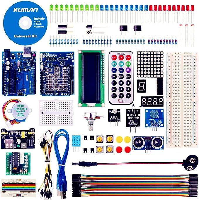 kuman Más Completo y Avanzado Mega Starter Kit para R3 con Guías ...