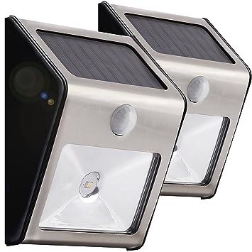 homemory solar sensor wall lights 2 led wireless motion sensor outdoor security nightlights for patio