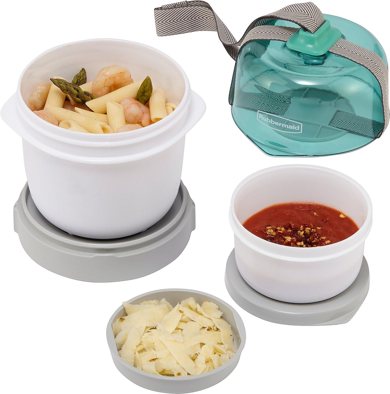 Rubbermaid Fasten + Go Soup Kit, Sea Foam Green, 3-Piece Set 1955738