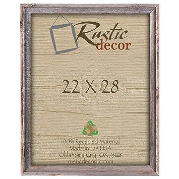 Amazoncom 22x28 2 Wide Signature Reclaimed Rustic Barnwood