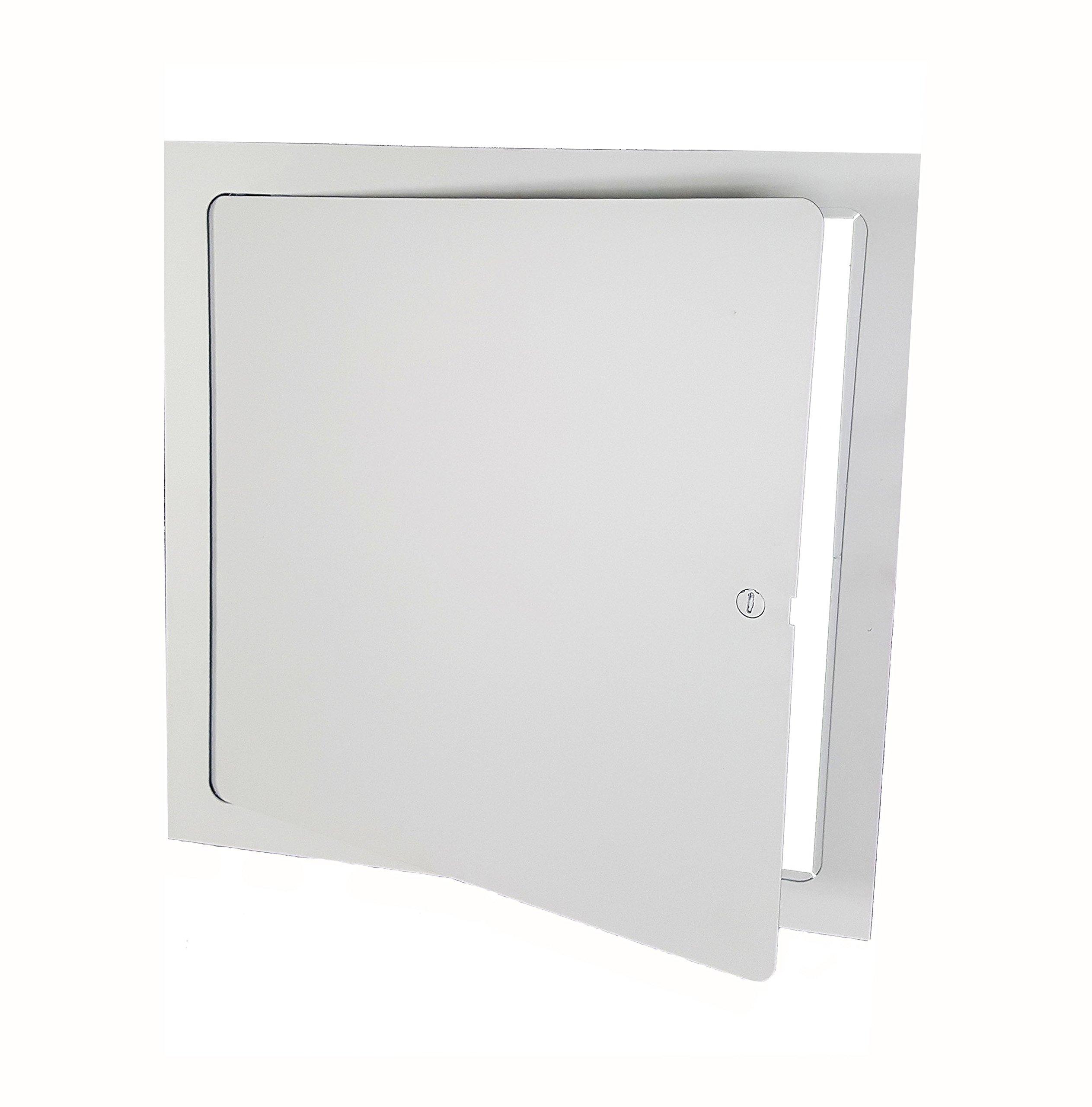 Premier FL-8 x 8 Flush Access Door, Steel, Powder Coated White by Premier Access Doors