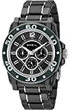 Breil Men's Quartz Watch with Black Dial Analogue Display and Black PU Bracelet TW0994