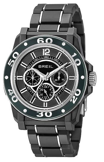 Breil TW0994 - Reloj para hombre con correa de poliuretano, color negro/gris