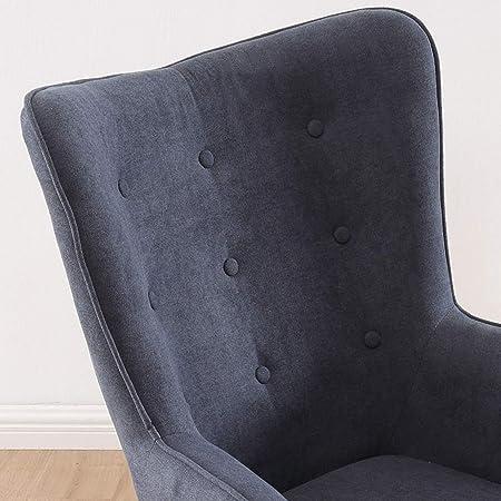 Adec - Voss, Sillon de diseño, butaca de Espera Fija, Patas nórdicas en Madera Color Haya, descalzadora tapizada en Color Gris, Medidas: 71 cm (Ancho) x 75 cm (Fondo) x 95 cm (Alto)