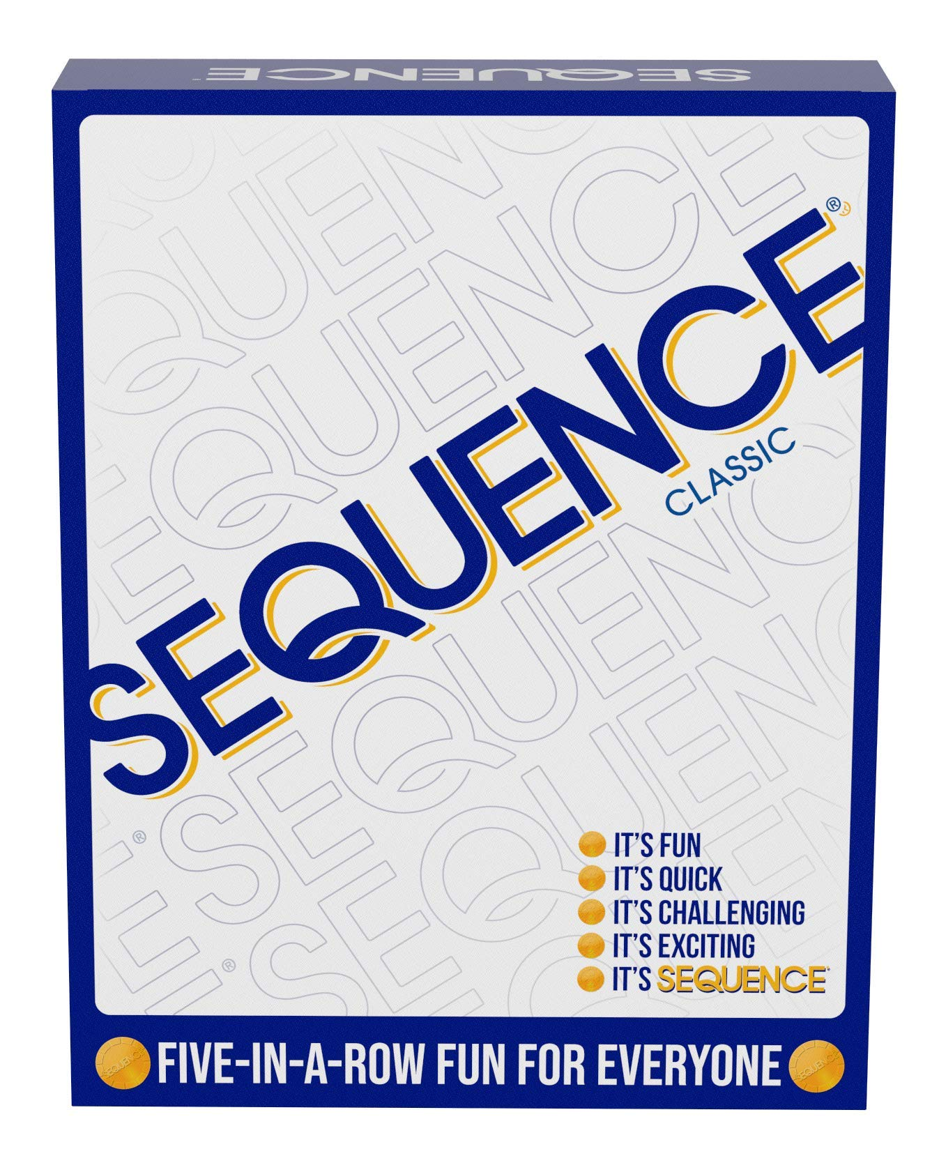 "SEQUENCE- Original SEQUENCE Game with Folding Board, Cards and Chips by Jax ( Packaging may Vary ) White, 10.3"" x 8.1"" x 2.31"""