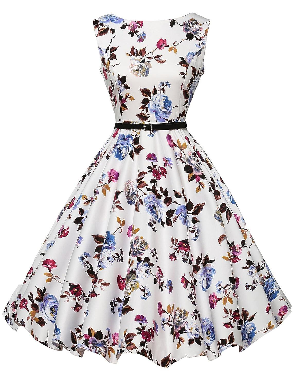 TALLA M. GRACE KARIN Vestido Floral para Fiesta Estampado Vintage Años 50 Clolor 22 M