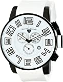 Swiss Legend Men's 30425-BB-02-WS Airbourne Stainless Steel Watch With White Silicone Band