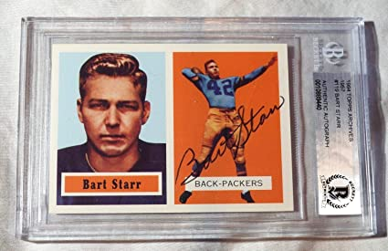 Bart Starr 15 Signed 1994 Topps Archives 1957 Rookie Card