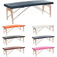 H-ROOT grande Section 2 léger Massage portative Table canapé lit socle thérapieTatoo Salon Reiki guérison Massage suédois 1 (Bleu Marine) …