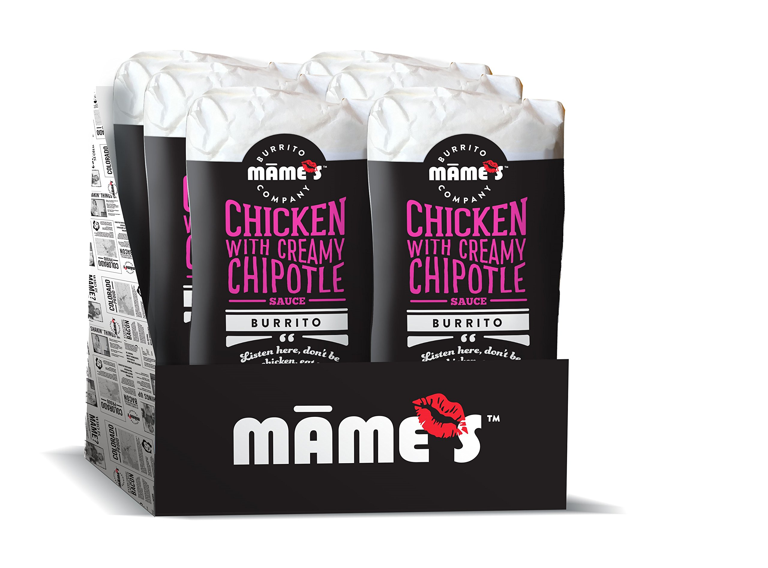 Mame's Burrito Company Chicken with Chipotle Sauce Burrito, 7 Ounce (Pack of 12) by Mame's Burrito Company