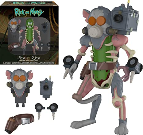 Funko- Action Figure: Rick & Morty: Pickle Rick Coleccionable, Multicolor (29783)