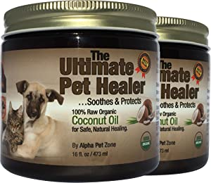 ALPHA PET ZONE Coconut Oil for Dogs, Treatment for Itchy Skin, Dry Elbows, Paws and Nose
