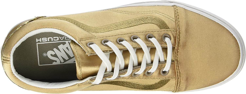 Vans Damen Old Skool Dx Sneaker Gold California Souvenir Greige Blanc De Blanc
