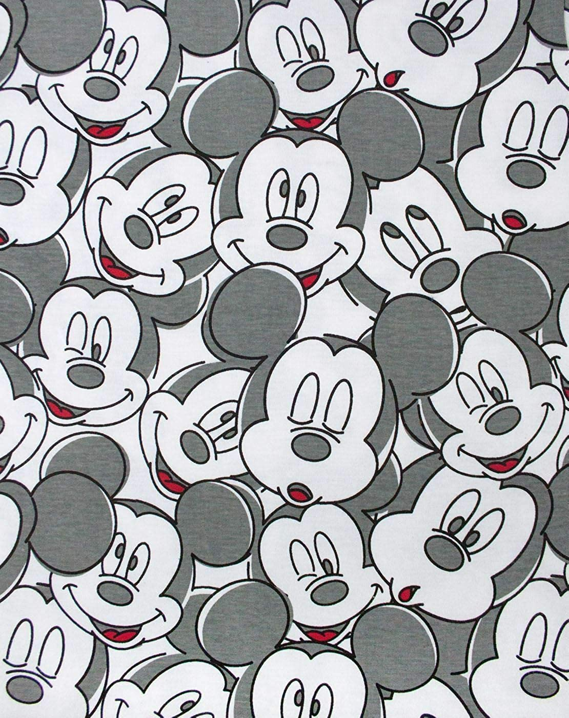 Disney Mickey Mouse Face All Over Print Boys T-Shirt