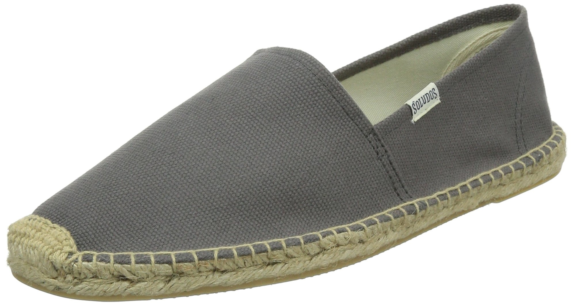 Soludos Men's Solid Original Dali Shoe, Charcoal, 9 D US