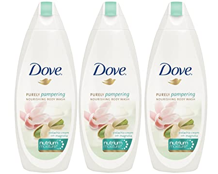 Dove Purely Pampering Pistachio Cream with Magnolia Body Wash, 24 Fluid Ounce Pack of 3