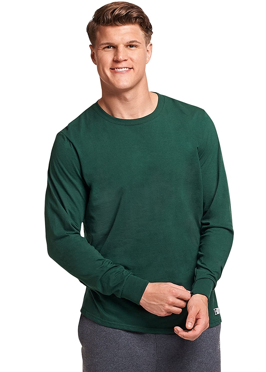 Russell Athletic mens standard Essenital Men's Long Sleeve Tee 64LTTM0