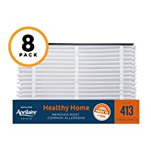 Aprilaire 413 Healthy Home Air Filter for Aprilaire Whole-Home Air Purifiers, MERV 13, for Most Common Allergens (Pack of 8)
