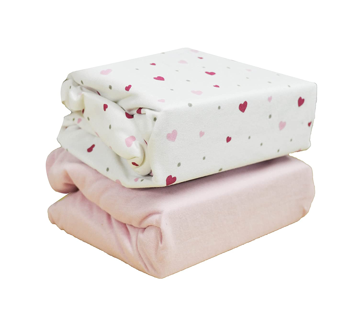 Cuddles Collection Moses Fitted sheets (Hearts) Cuddles Collection Ltd CCU11375
