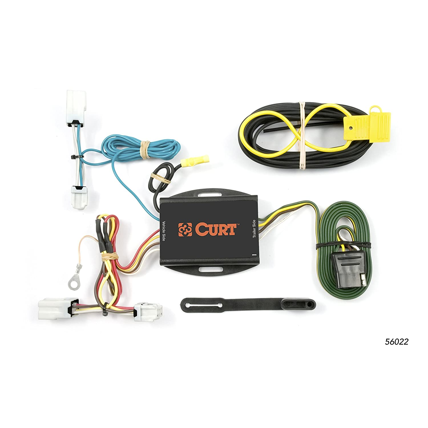 CURT 56022 Vehicle-Side Custom 4-Pin Trailer Wiring Harness for Select on