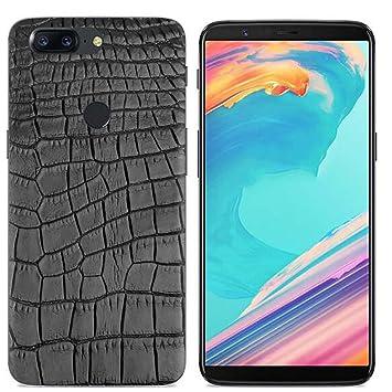 Yrlehoo Para OnePlus 5T, Cuero Funda de Silicona Suave para OnePlus 5T Protectora Cover Case, Patrón de cocodrilo