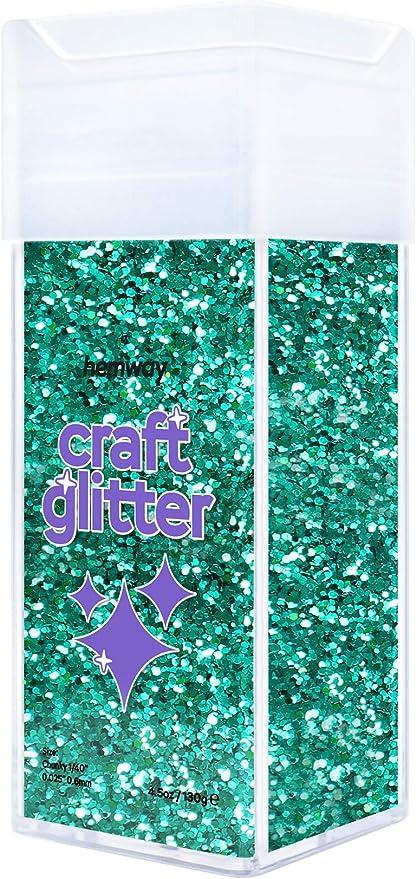 Extra Chunky 1//24 0.04 For Glitter Arts Craft Tumblers Schools Paper Glass Decorations DIY 100g Hemway Fluorescent Blue Craft Glitter