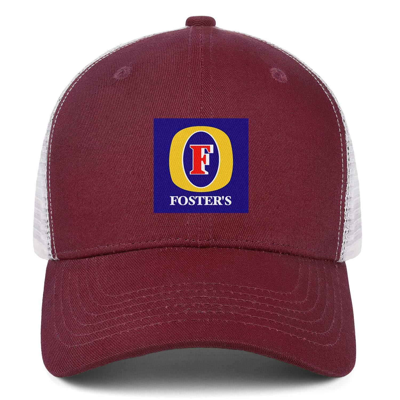 Fosters Lager Beer Vector Logo Men Women Mesh Ball Cap Adjustable Snapback Dad Hat
