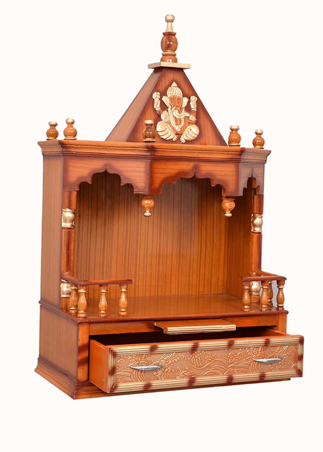 Emejing big wooden temple designs for home contemporary for Home mandir designs marble