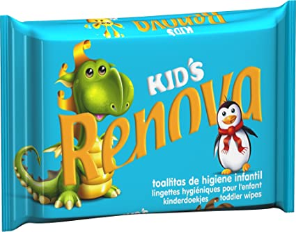 Renova Toallitas Higiénicas Kids Recarga Infantil - 40 Toallitas