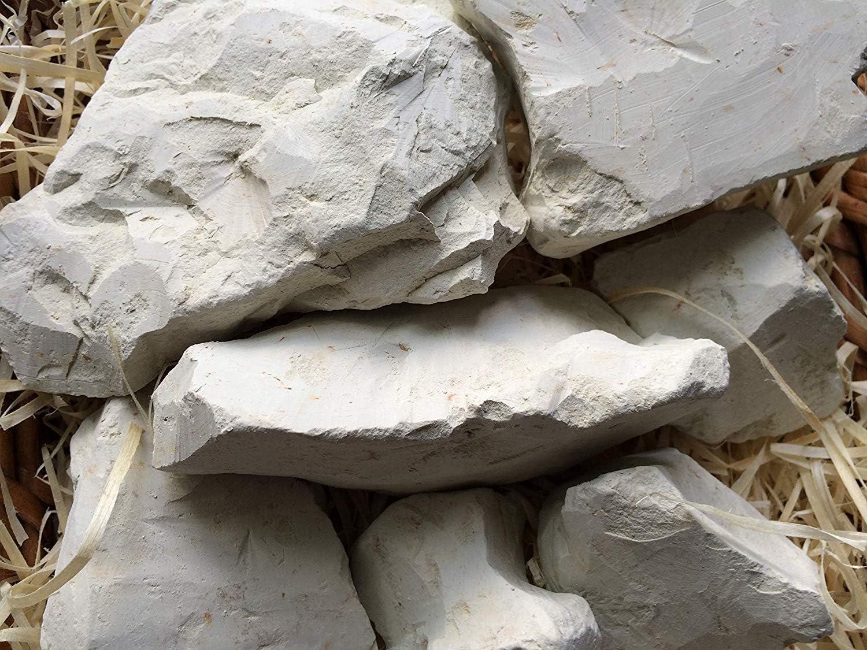 food 4 oz 110 g GREEN clay chunks natural for eating