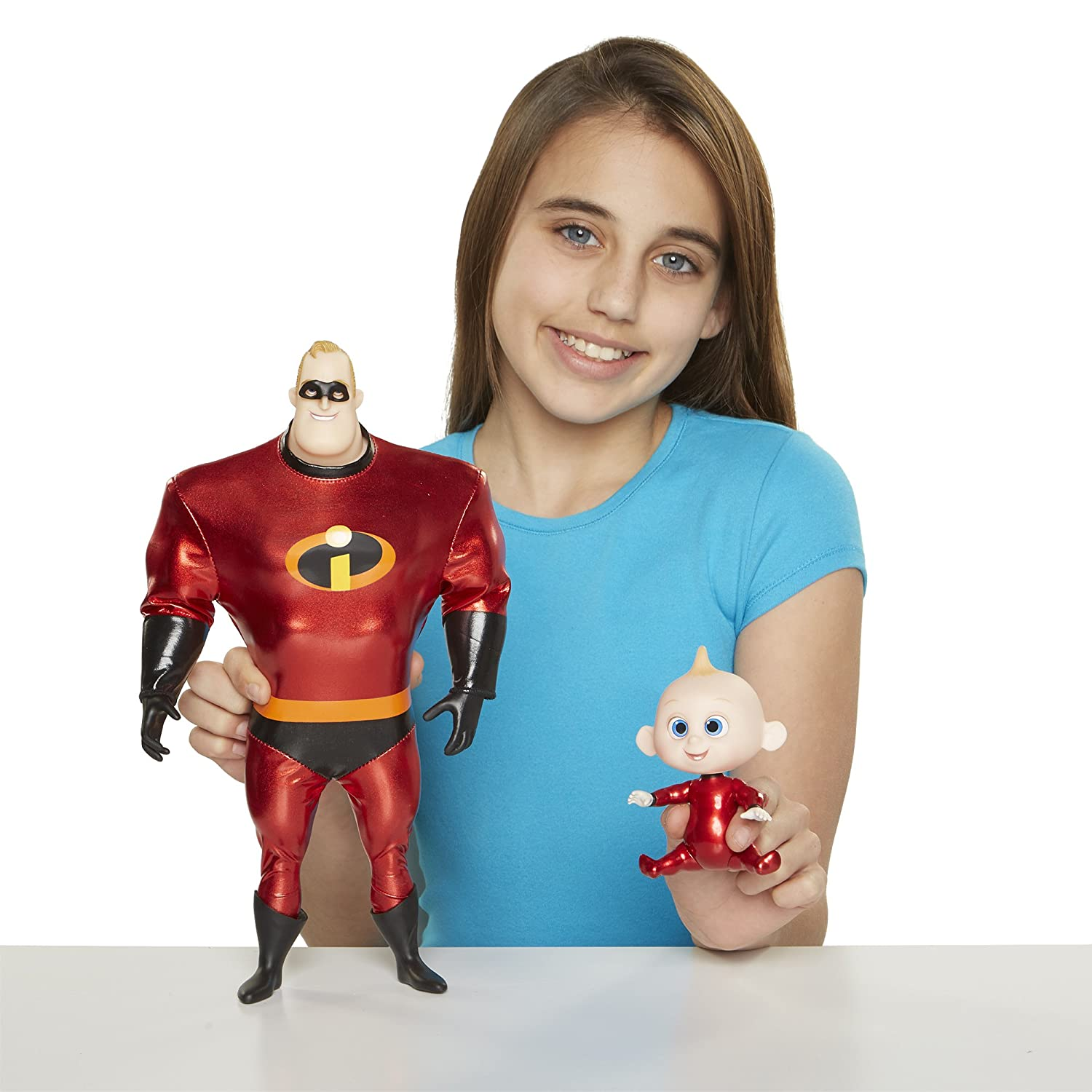"The Incredibles 2 Violet Action Figure 11"" Articulated Doll in Deluxe Costume and Mask Jakks 76602"