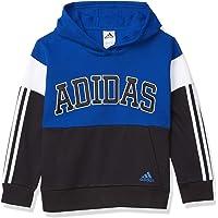 adidas Boys' Big Kid Core Clr Blk Hooded Plovr