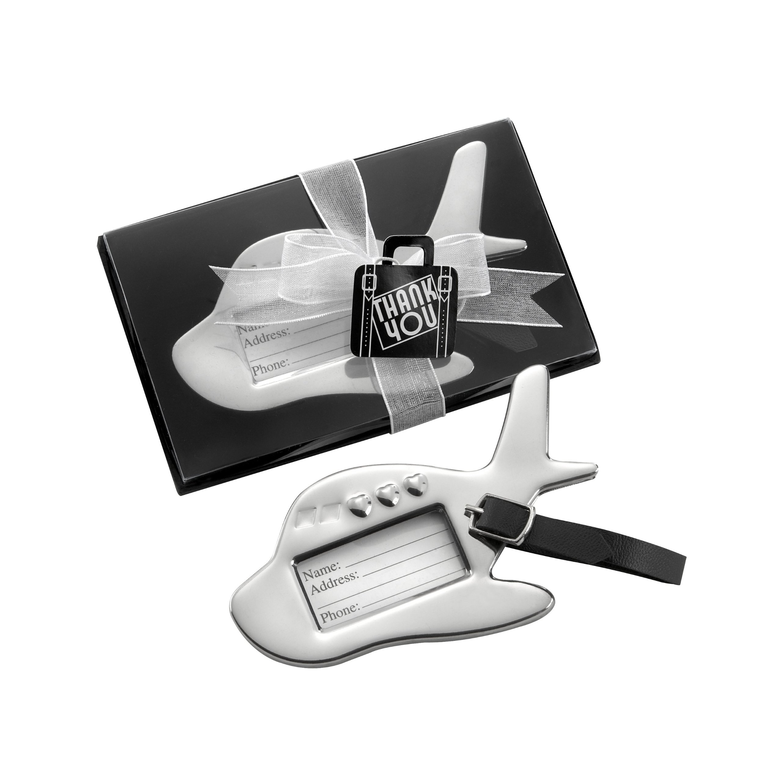 Kate Aspen  Airplane Luggage Tag Bundle of 24, Silver by Kate Aspen