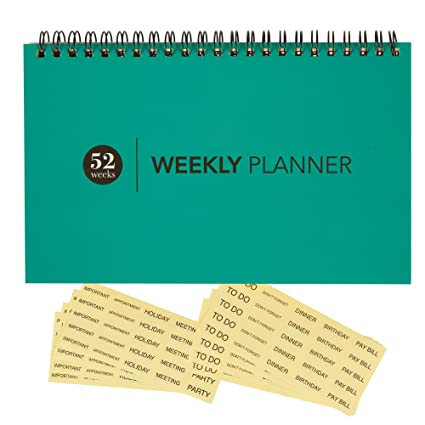 Amazon Com Blank Weekly Calendar Planner For Home Office