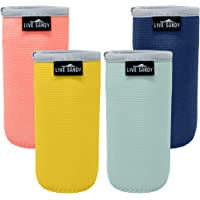 Slim Beer Can Cooler Sleeves – Caribbean Collection - 4 Pack Neoprene Insulated Stubby Holder for Slim Cans Fits 12 oz…
