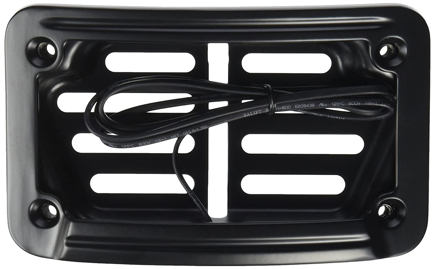 Kuryakyn 7678 Satin Black Laydown Curved LED License Plate