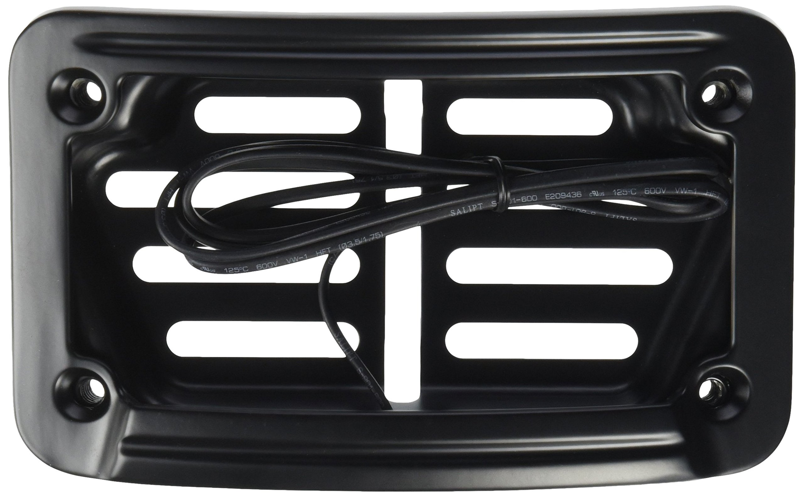 Kuryakyn 7678 Satin Black Laydown Curved LED License Plate by Kuryakyn
