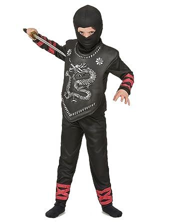Disfraz Ninja - para niño - negro y rojo: Amazon.es: Ropa y ...